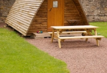 Self catering wigwam holiday Edinburgh